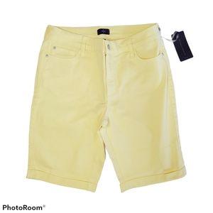 NWT NYDJ Debbie Yellow Bermuda Jean Shorts